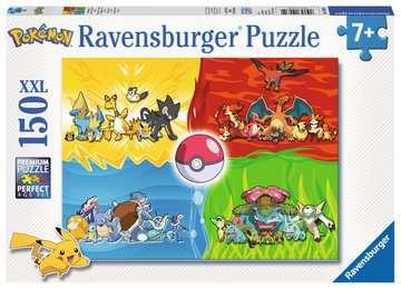 Puzzle 150 p XXL - Les différents types de Pokémon Puzzle;Puzzle enfant - Image 1 - Ravensburger