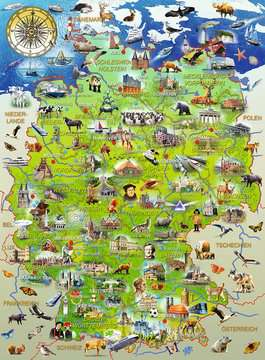 Meine Deutschlandkarte Puzzle;Kinderpuzzle - Bild 2 - Ravensburger