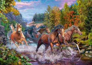 Rushing River Horses Jigsaw Puzzles;Children s Puzzles - image 2 - Ravensburger