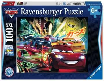 Disney Auta Neonová světla 100 dílků 2D Puzzle;Dětské puzzle - image 1 - Ravensburger