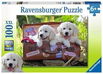 Traveling Pups 100pc Puslespil;Puslespil for børn - Billede 1 - Ravensburger