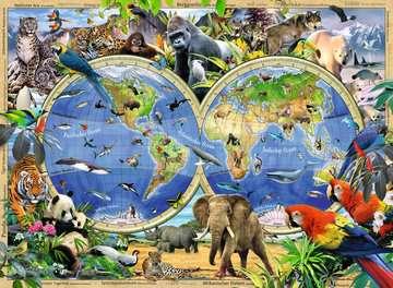 Tierisch um die Welt Puzzle;Kinderpuzzle - Bild 2 - Ravensburger