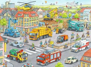 10558 Kinderpuzzle Fahrzeuge in der Stadt von Ravensburger 2
