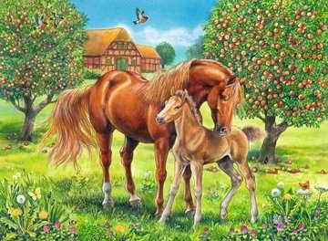 10577 Kinderpuzzle Pferdeglück auf der Wiese von Ravensburger 2