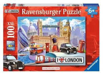 KOCHAM LONDYN! 100 EL Puzzle;Puzzle dla dzieci - Zdjęcie 1 - Ravensburger