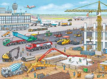 Construction at the Airport Jigsaw Puzzles;Children s Puzzles - image 2 - Ravensburger