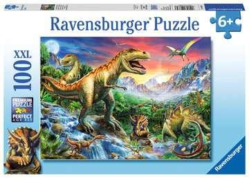 Puzzle dla dzieci 2D: Dinozaury 2 100 elementów Puzzle;Puzzle dla dzieci - Zdjęcie 1 - Ravensburger