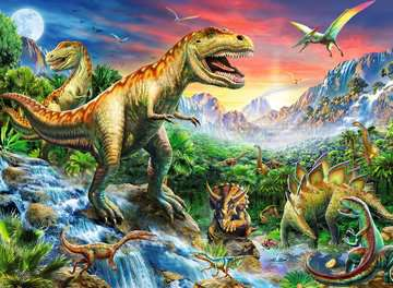 Puzzle dla dzieci 2D: Dinozaury 2 100 elementów Puzzle;Puzzle dla dzieci - Zdjęcie 2 - Ravensburger