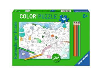 Color puzzle 80 p - Les animaux / OMY Puzzle;Puzzle enfant - Image 1 - Ravensburger