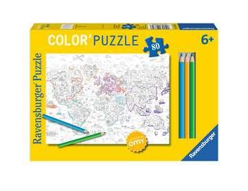 Color puzzle 80 p - Atlas / OMY Puzzle;Puzzle enfant - Image 1 - Ravensburger