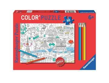 Color puzzle 80 p - En ville / OMY Puzzle;Puzzle enfant - Image 1 - Ravensburger