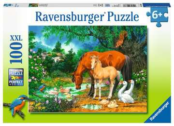 10833 Kinderpuzzle Idylle am Teich von Ravensburger 1