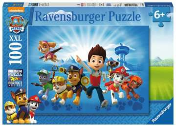 Tlapková patrola 100 dílků 2D Puzzle;Dětské puzzle - image 1 - Ravensburger