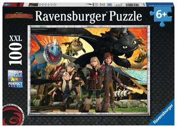 How to Train your Dragon XXL100 Puslespil;Puslespil for børn - Billede 1 - Ravensburger