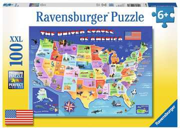 USA State Map Jigsaw Puzzles;Children s Puzzles - image 1 - Ravensburger