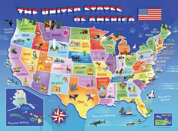 USA State Map Jigsaw Puzzles;Children s Puzzles - image 2 - Ravensburger