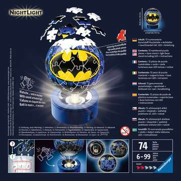 Batman Ravensburger 3D  Nighlight Puzzle ball 3D Puzzle;3D Lampada Notturna - immagine 2 - Ravensburger