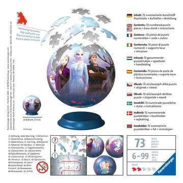 Puzzle-Ball Disney Ledové království 2 72 dílků 3D Puzzle;Puzzleball - obrázek 2 - Ravensburger