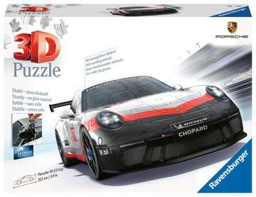 Porsche GT3 Cup 3D Puzzle, 108pc 3D Puzzle®;Former - Billede 1 - Ravensburger