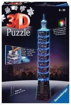 Taipei 101 bei Nacht 3D Puzzle;3D Puzzle-Bauwerke - Bild 1 - Ravensburger