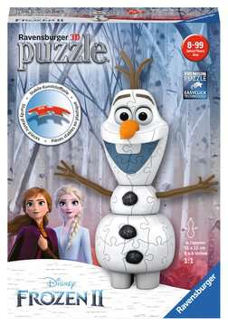 Frozen 2, Olaf Shaped 3D Puzzle, 54pc 3D Puzzle®;Shaped 3D Puzzle® - image 1 - Ravensburger