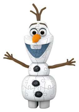 Frozen 2, Olaf Shaped 3D Puzzle, 54pc 3D Puzzle®;Shaped 3D Puzzle® - image 2 - Ravensburger