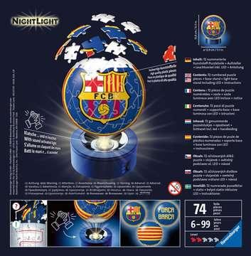 Puzzle 3D rond 72 p illuminé - FC Barcelone Puzzle 3D;Puzzles 3D Ronds - Image 2 - Ravensburger