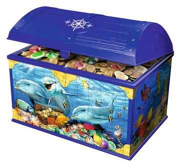 11174 3D Puzzle-Organizer Schatztruhe Unterwasserwelt von Ravensburger 3