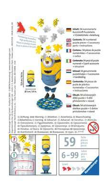 Mimoni 2 postavička - Jeans 54 dílků 3D Puzzle;Zvláštní tvary - obrázek 2 - Ravensburger