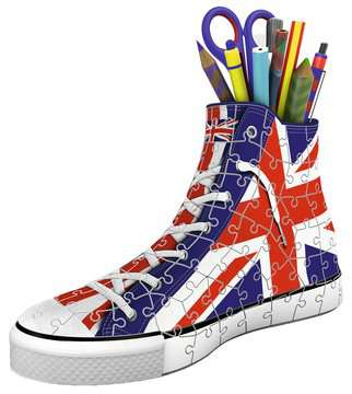 Sneaker Union Jack portalapices 3D Puzzle;3D Shaped - imagen 2 - Ravensburger