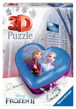 Srdce Disney Ledové království 2 54 dílků 3D Puzzle;Zvláštní tvary - obrázek 1 - Ravensburger
