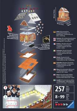 Gingerbread House 3D Puzzle, 216pc 3D Puzzle®;Buildings 3D Puzzle® - image 2 - Ravensburger