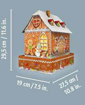 Ravensburger Christmas Gingerbread House Night Edition 216 piece 3D Jigsaw Puzzle with LED lighting for Kids age 8 years and up 3D Puzzle®;Night Edition - image 6 - Ravensburger
