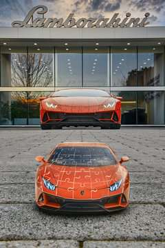 11238 3D Puzzle-Autos Lamborghini Huracán EVO von Ravensburger 10