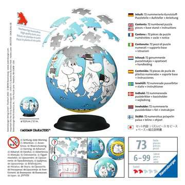 Moomin                    72p 3D Puzzle®;Puslespillballer - bilde 2 - Ravensburger