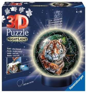 11248 3D Puzzle-Ball Nachtlicht - Raubkatzen von Ravensburger 1