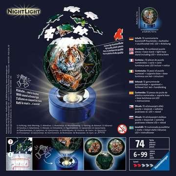 11248 3D Puzzle-Ball Nachtlicht - Raubkatzen von Ravensburger 2