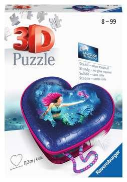 11249 3D Puzzle-Organizer Herzschatulle - Bezaubernde Meerjungfrauen von Ravensburger 1