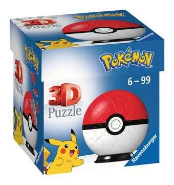 Puzzles 3D Ball 54 p - Poké Ball / Pokémon Puzzle 3D;Puzzles 3D Ronds - Image 1 - Ravensburger