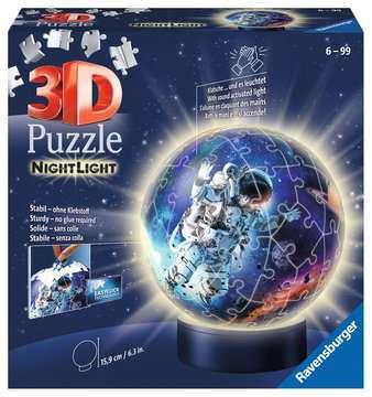 Puzzle 3D Ball 72 p illuminé - Les astronautes Puzzle 3D;Puzzles 3D Ronds - Image 1 - Ravensburger