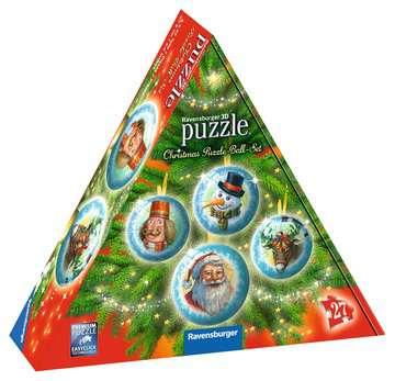 Christmas Ornament 3D Puzzle Balls in Gift Box 3D Puzzle®;Puslebolde - Billede 1 - Ravensburger