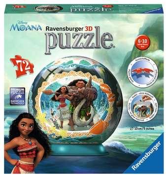 Disney Moana 3D Puzzle, 72pc 3D Puzzle®;Character 3D Puzzle® - image 1 - Ravensburger