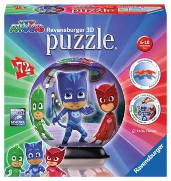 Puzzle 3D rond 72 p - Pyjamasques Puzzle 3D;Puzzles 3D Ronds - Image 1 - Ravensburger