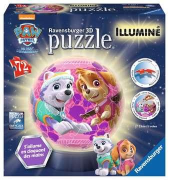 Puzzle 3D rond 72 p illuminé - Pat Patrouille - Filles Puzzle 3D;Puzzles 3D Ronds - Image 1 - Ravensburger