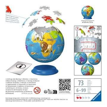 Puzzle 3D Kula: Dziecinny globus 72 elementy Puzzle 3D;Puzzle Kuliste - Zdjęcie 2 - Ravensburger