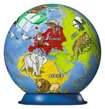 Puzzle 3D Kula: Dziecinny globus 72 elementy Puzzle 3D;Puzzle Kuliste - Zdjęcie 3 - Ravensburger