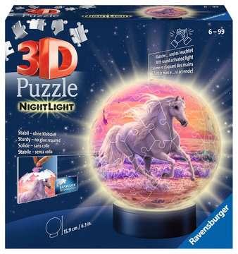 11843 3D Puzzle-Ball Nachtlicht - Pferde am Strand von Ravensburger 1