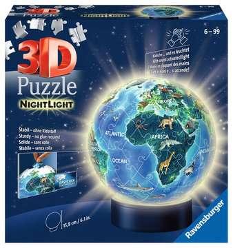 Earth by Night, 72pcs 3D Nightlight Jigsaw Puzzle 3D Puzzle®;Puslebolde - Billede 1 - Ravensburger