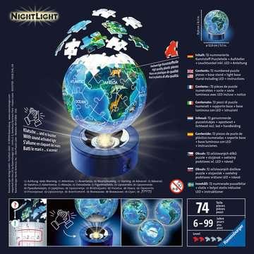 Earth by Night, 72pcs 3D Nightlight Jigsaw Puzzle 3D Puzzle®;Puslebolde - Billede 2 - Ravensburger