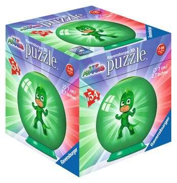 Puzzles 3D rond 54 p - Pyjamasques - 3 motifs 3D puzzels;Puzzle 3D Ball - Image 2 - Ravensburger